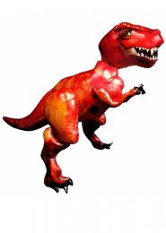 Inflated Large Red Dinosaur T Rex Air Walker Balloon