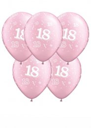 Pearl Pale Pink 18th Birthday Party Balloons Pack 5