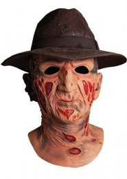 Deluxe Freddy Krueger Latex Mask and Hat
