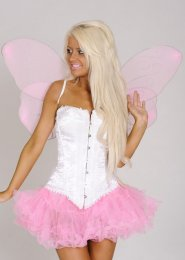 Pink Glitter Butterfly Fairy Wings