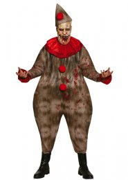 Mens Creepy Fat Clown Halloween Costume