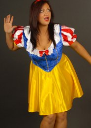 Ladies Plus Size Snow White Fairytale Costume