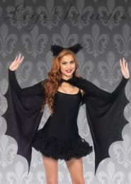 Womens Gothic Cozy Bat Wings Shrug Kit