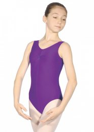 Purple Sheree Sleeveless Dance Leotard