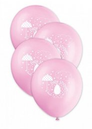 Cute Pink Elephant Baby Shower Party Balloons Pk8