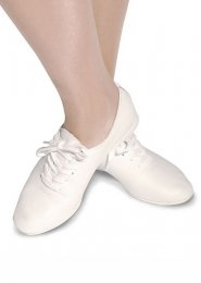 White Leather Split Sole Jazz Shoes