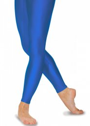 Royal Blue Lycra Footless Dance Tights Leggings