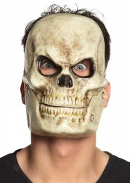 Halloween Plastic Skull Mask with Movable Jaw