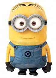 Inflated Large Minions Airwalker Helium Balloon