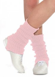 Pink and Silver Stirrup Dance Leg Warmers 60cm