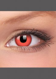 Halloween Red Devil Crazy Eye Lenses 1 Year