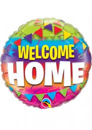 Inflated Bright Welcome Home Helium Balloon