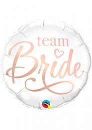 Inflated Rose Gold Team Bride Helium Balloon