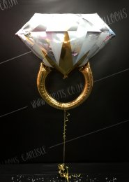 Inflated Jumbo Diamond Wedding Ring Balloon