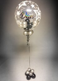 Personalised Congratulations Balloon Filled Bubble Balloon
