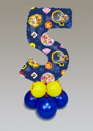Paw Patrol 5th Birthday Mid-Size Number Balloon Centrepiece