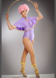Teen Greatest Showman Anne Wheeler Style Trapeze Costume