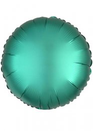 Inflated Jade Green Satin Luxe Circle Helium Balloon