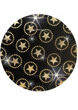 Hollywood Star Large Paper Party Plates Pk8