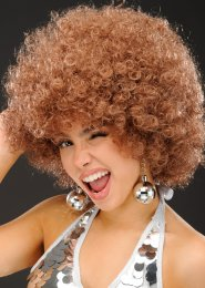 Womens 1970s Brown Mega Afro Wig