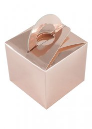 Metallic Rose Gold Box Balloon Weight