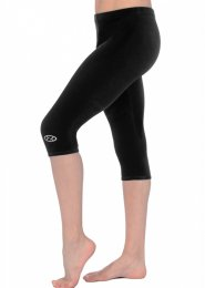Black Velour Capri Gymnastics Leggings