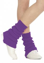Purple Stirrup Dance Leg Warmers 40cm