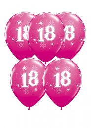 Bright Pink 18th Birthday Party Balloons Pack 5