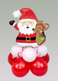 Inflated Christmas Santa Mini Balloon Table Centrepiece