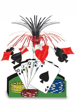 Casino Party Playing Card Table Centrepiece