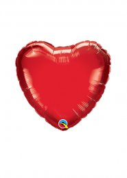 Inflated Extra Small Red Heart Mini Air Filled 4 Inch Balloon