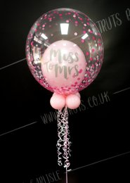 Pink Hen Party Miss To Mrs Deco Bubble Balloon