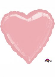 Inflated Pearl Pastel Pink Heart Helium Balloon
