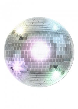 70s Disco Ball Cutout Party Decoration