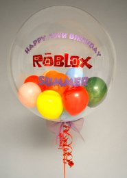 Personalised Roblox Mini Balloon Filled Bubble Balloon