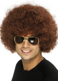 70s Disco Funky Brown Curly Afro Wig