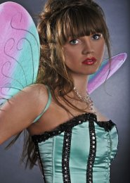 Pink and Blue Glitter Butterfly Fairy Wings