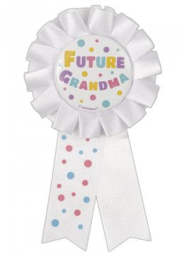 Baby Shower Future Grandma Award Ribbon Badge