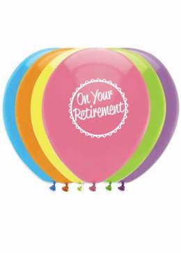Retirement Party Balloons Pack 6