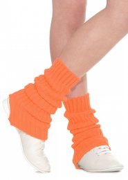Flourescent Orange Stirrup Dance Leg Warmers 60cm