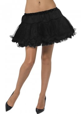 Womens Black Petticoat with Satin Band