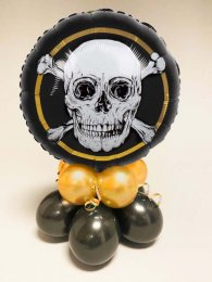 Pirate Skull and Crossbones Inflated Balloon Centrepiece