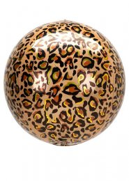 Inflated Leopard Print Orbz Helium Balloon