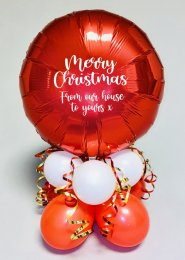 Inflated Red Merry Christmas Centrepiece Gift