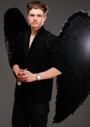 Mens Extra Large Black Feather Gothic Angel Wings