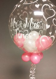 Personalised Wedding Multi Balloon Filled Deco Bubble Balloon