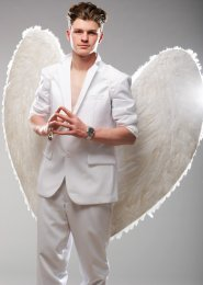 Mens Extra Large White Feather Angel Wings