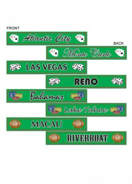 Casino Party Destination Street Sign Cut Outs Pk4