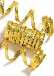 Gold Holographic Serpentine Party Streamers Pk10