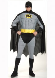 Plus Size Muscle Chest Batman Costume
